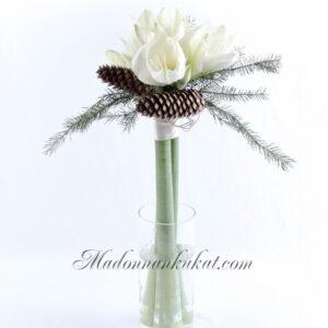 Amaryllis kimppu (valkoinen)